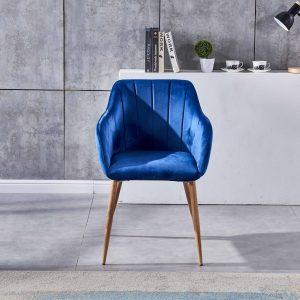 dining armchair royal blue