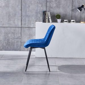 modern dining chair in royal blue x4