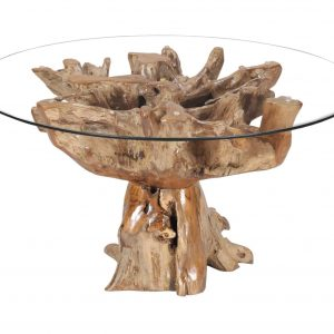 teak root table round