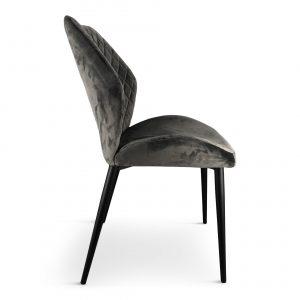 grey dining chair velvet x 2