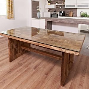 dining table set from reclaimed teak wood