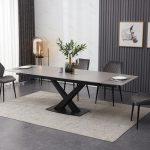 grey table 4 velvet extended