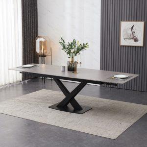 ceramic dining table 180 -250 cm grey