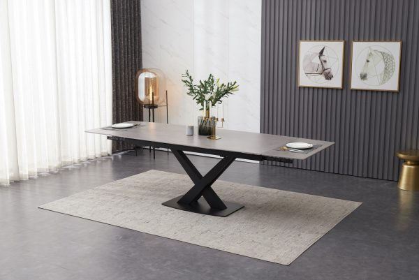 ceramic dining table 180 -250 cm  grey