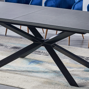 ceramic Dining table grey 180-220 cm