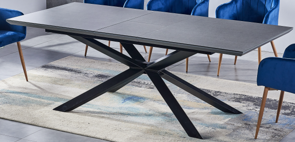 ceramic Dining table grey 180-220 cm