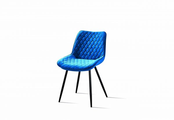 dining chair in royal blue
