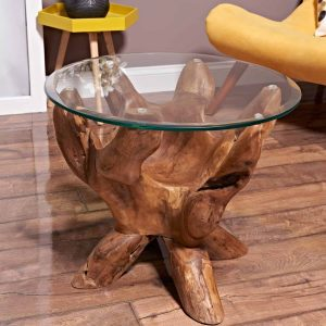 Teak Root Coffee Table round 60 cm