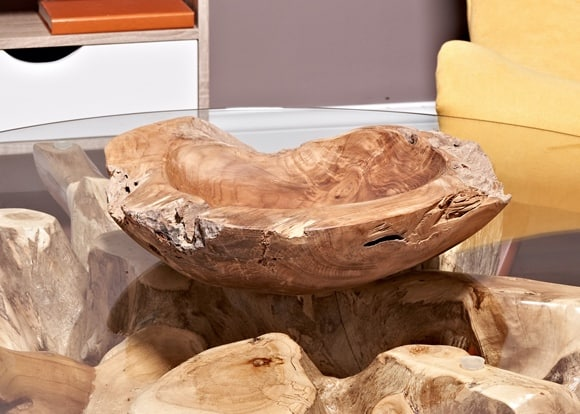 Teak Fruit Bowl reclaimed teak 40 cm