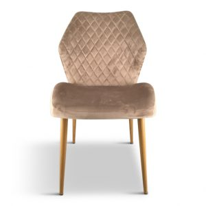 dining chairs velvet champagne box of 2